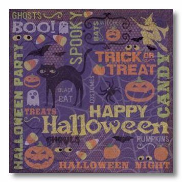 Happy Halloween Collage 12X12 Paper