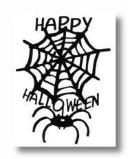 Happy Halloween Web Die-Cut