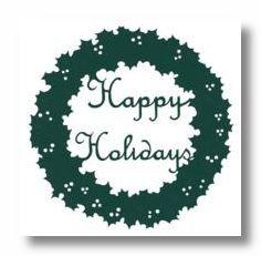 Happy Holidays Die-Cut