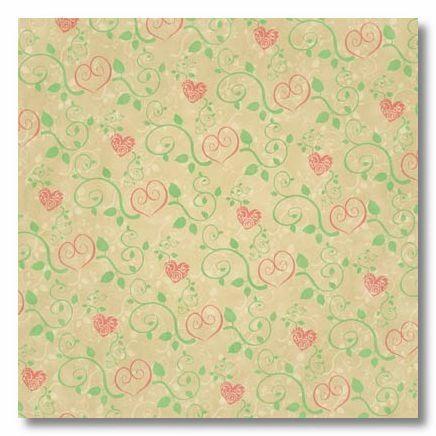 Hearts 12x12 Paper