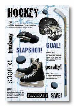 Hockey Cardstock Sticker