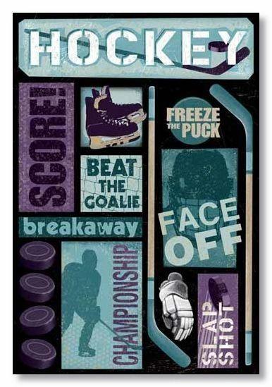 Hockey Goal Cardstock Sticker