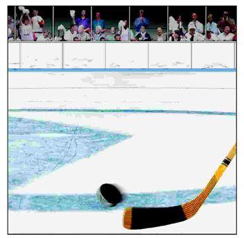 Hockey Slap Shot 12x12 Paper