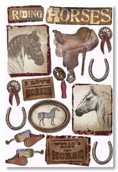 Horses Cardstock Sticker