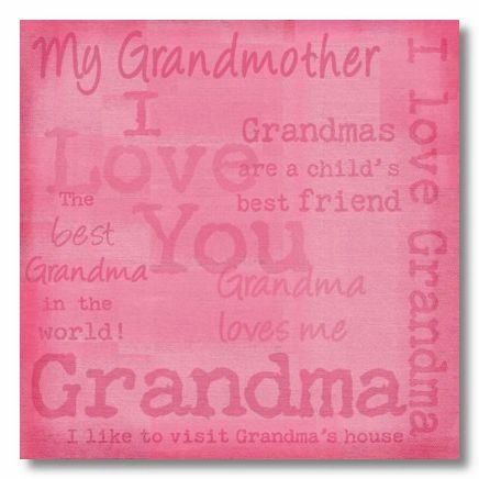 I Love Grandma 12x12 Paper