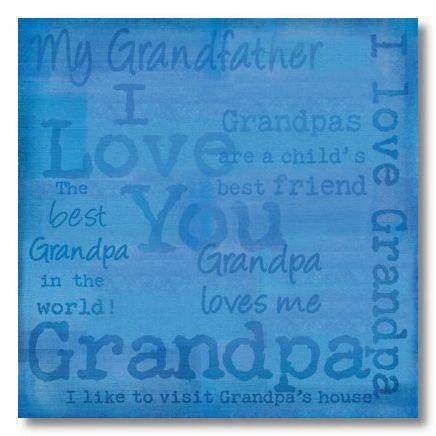 I Love Grandpa 12x12 Paper