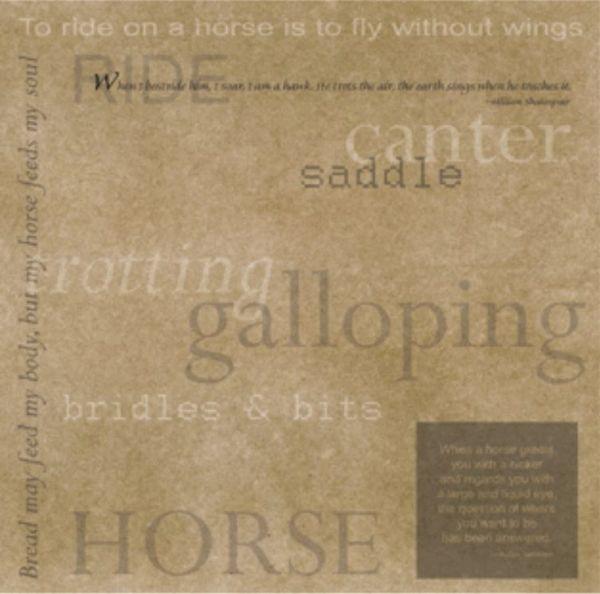 Riding Words & Sayings 12x12 Paper