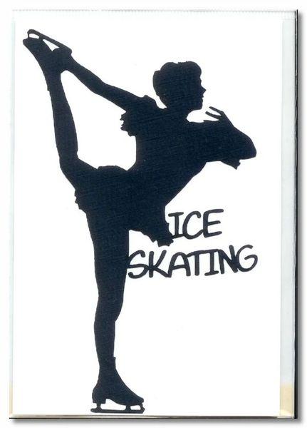 Ice Skating Die-cut