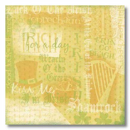 Irish Collage 12x12 Paper