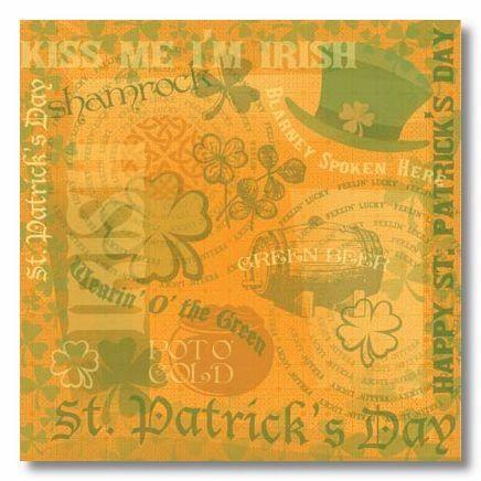 Irish Gold 12x12 Paper