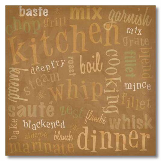 Kitchen Collage 12x12 Paper