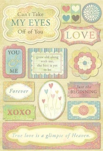 Love Cardstock Sticker