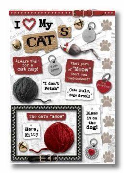 Love My Cat Cardstock Sticker