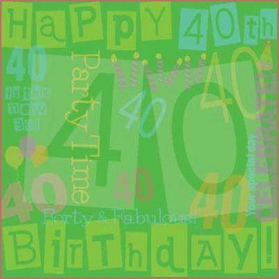 40th Birthday 12x12 paper
