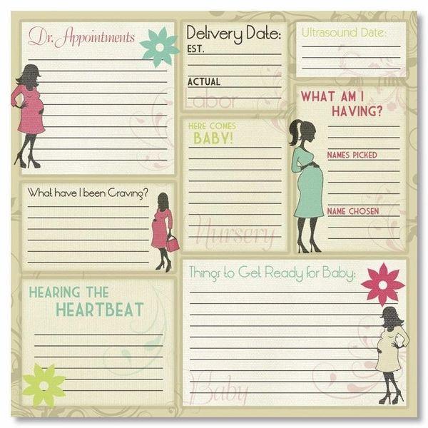 Maternity Memories 12x12 Paper