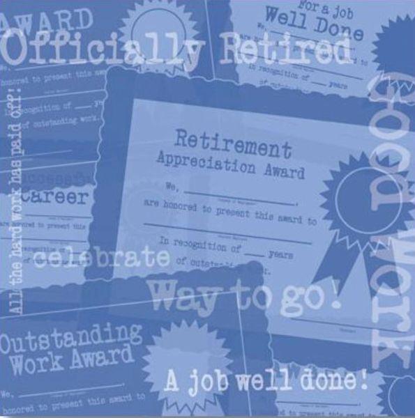Retirement Awards 12x12 Paper