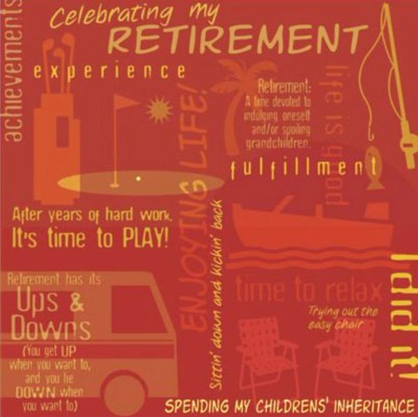 Retirement Collage 12x12 Paper