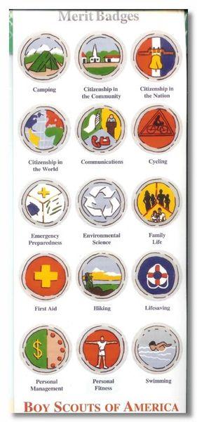 Merit Badges Sticker