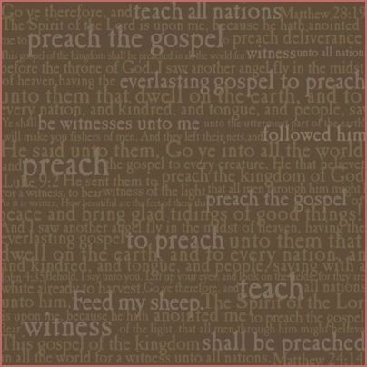 Missionary Words 12x12 Paper