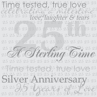 25th Anniversary Word 12x12 Paper
