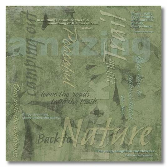 Natures Collage 12x12 Paper