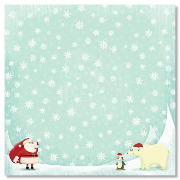 North Pole 12x12 Paper