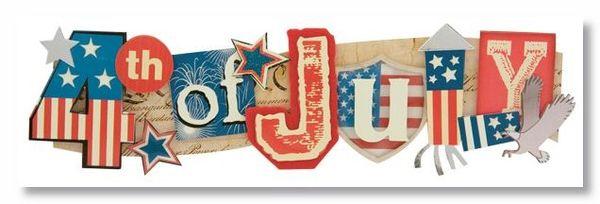 Patriotic Stacked Statement Sticker
