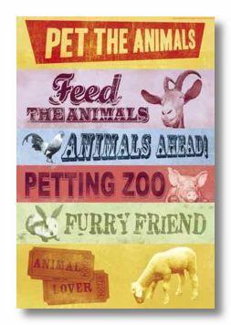 Pet The Animals Cardstock Sticker