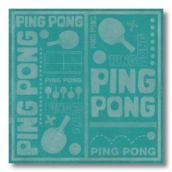 PingPong 12X12 Paper