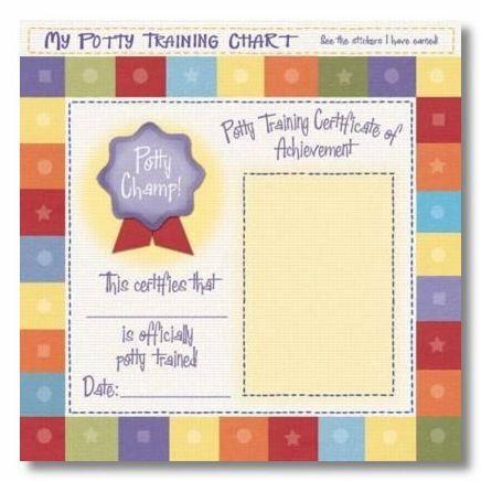 Potty Chart 12x12 Paper