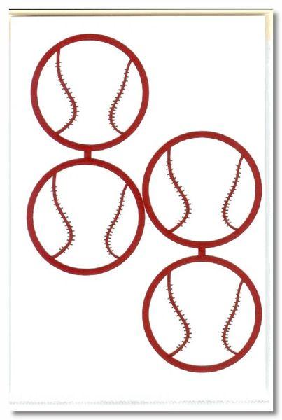 Baseball Die-cut