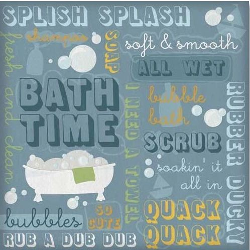 Bath Time Collage 12x12 Paper