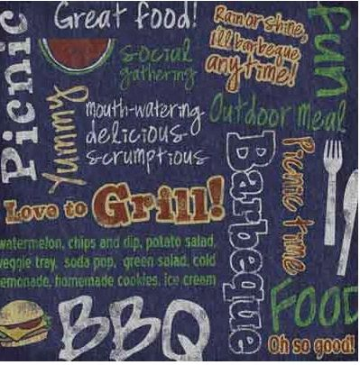BBQ Collage 12x12 Paper