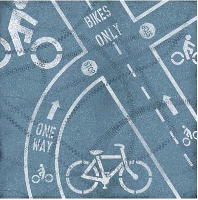 Bike Lanes 12x12 Paper