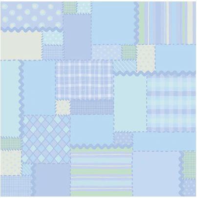 Blue Patchwork 12x12 Paper