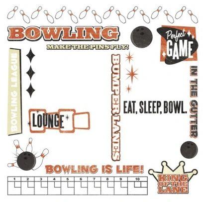 Bowling Rub-On