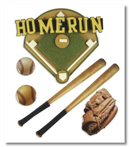 Baseball Home Run Stacked Stickers