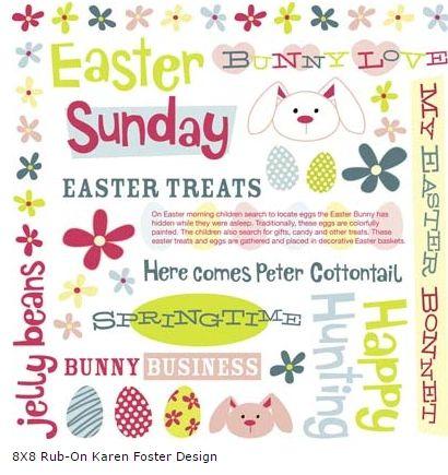 Easter Sunday Rub-On