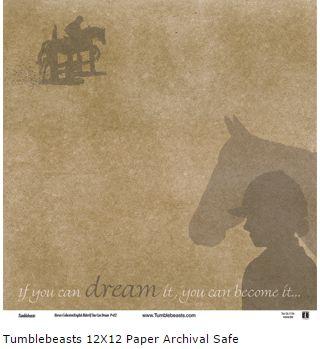 Equestrian If You Can Dream 12x12 Paper