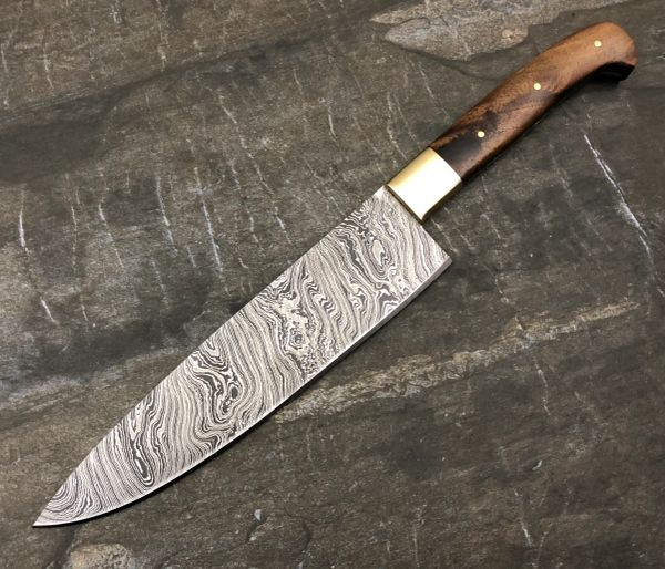 Custom Made Kitchen Knives: GBKN25 Damascus Steel Custom Handmade Kitchen Knife 12