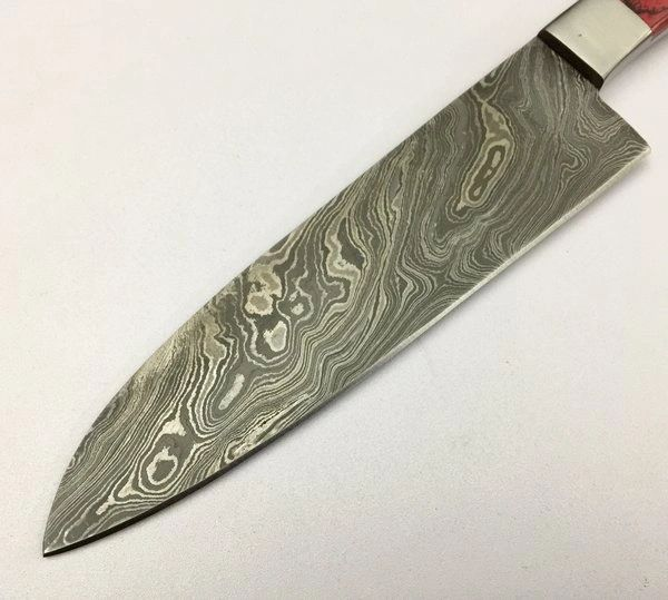 Custom Made Kitchen Knives: GBKN12 TWO Damascus Steel Custom Handmade Kitchen Chef