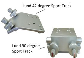 Bowducer Transducer mounting for Lund Boats using the Sporttrack rail system and Gamin Livescope