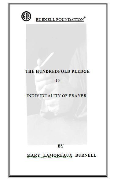 HUNDREDFOLD PLEDGE 15