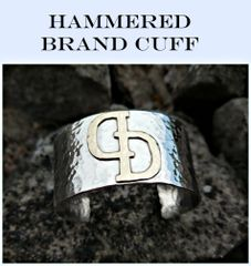 Hammered Cattle Brand Cuff