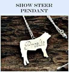 Sterling Silver Show Steer Necklace