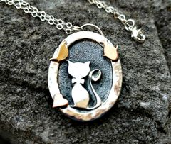 The Cat's Meow, Sterling Silver Kitty Cat Pendant