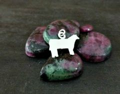Silver Show Steer Charm