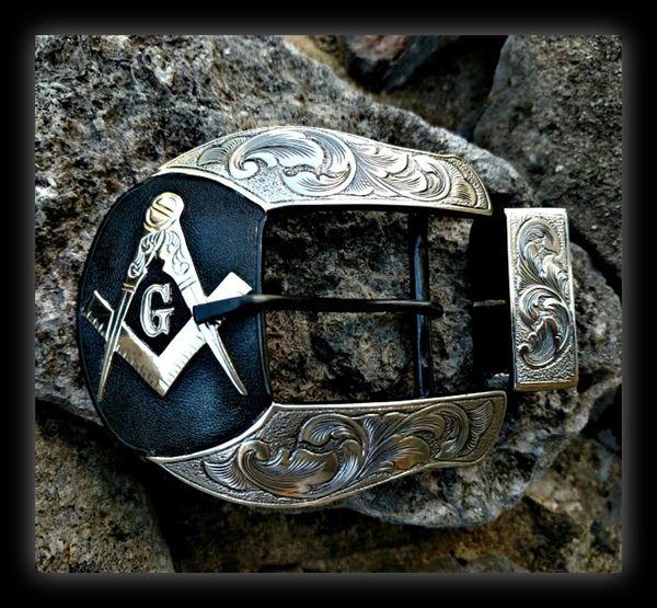 Masonic Ranger Belt Buckle Set