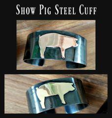 Steel Show Pig Livestock Cuff