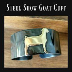 "Show Goat Steel Cuff, 1"" Width"